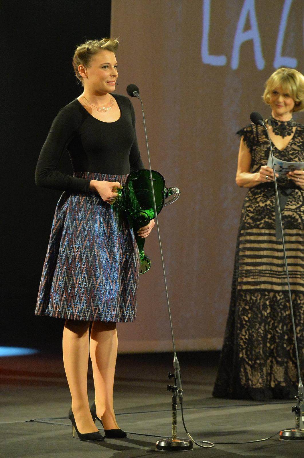Veronika Lazarčáková získala Cenu Thálie v kategorii Činoherci do 33 let.