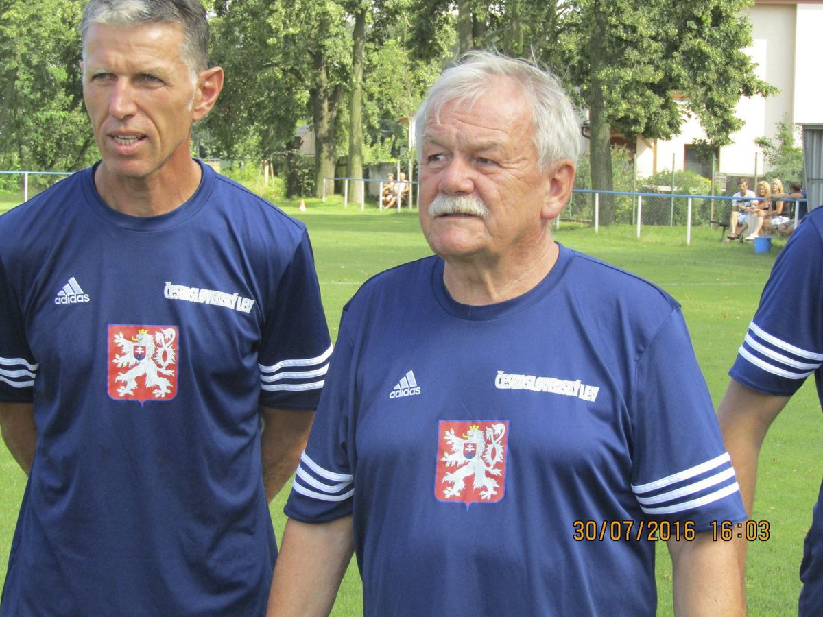 Trenér SK Slavia Praha Jaroslav Šilhavý a moderátor Karel Šíp