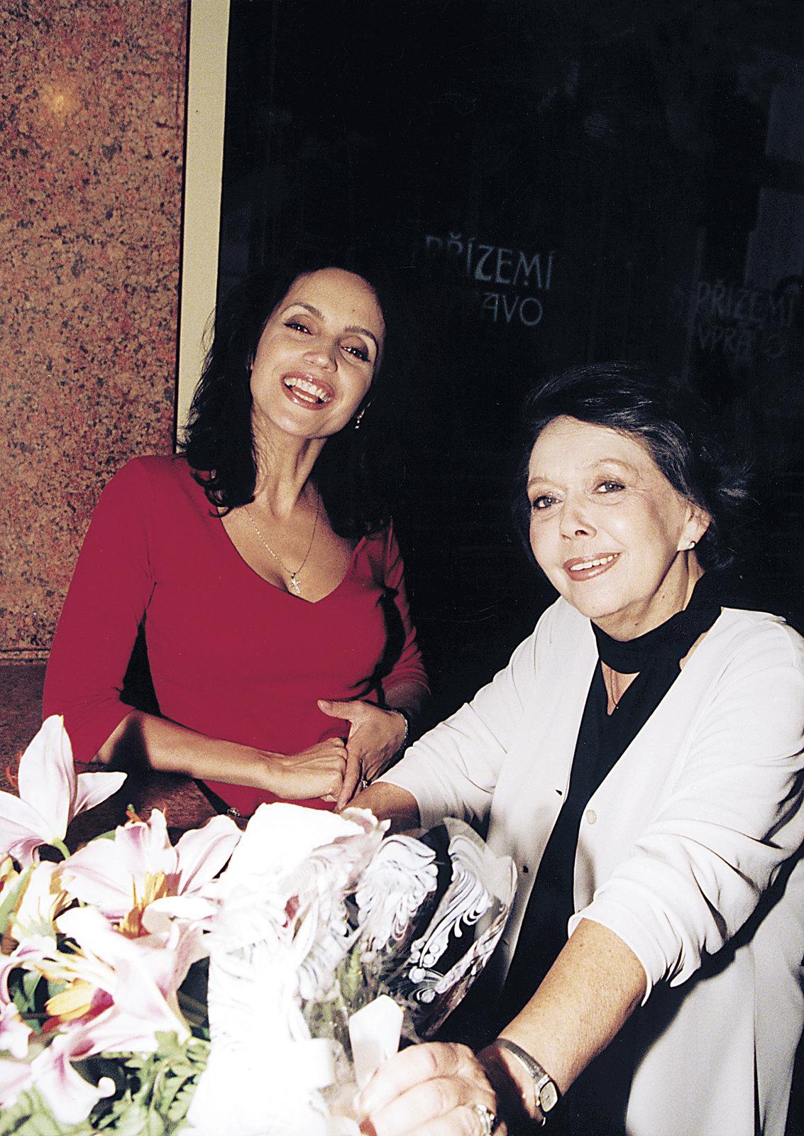 Lucie Bílá s Jiřinou Jiráskovou