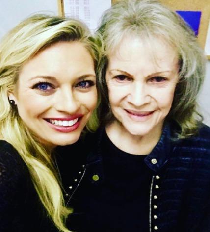 Lucie Borhyová s Evou Pilarovou