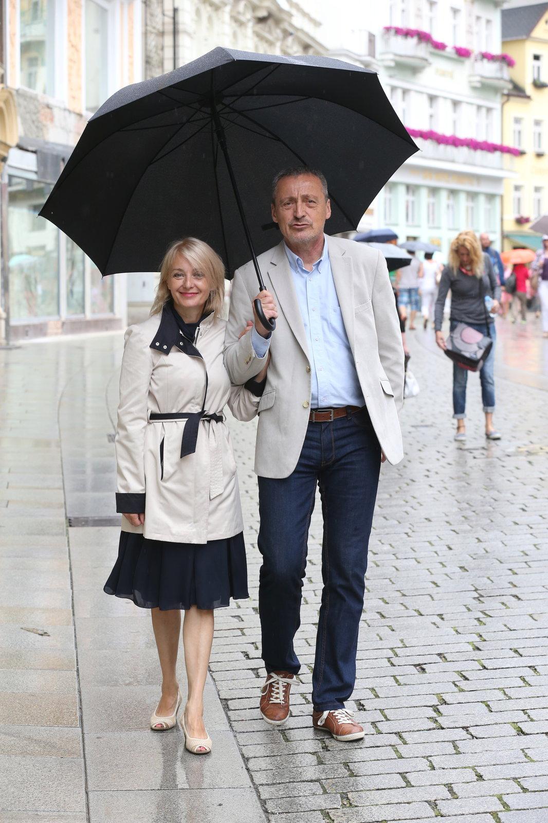 Veronika Žilková s manželem Martinem Stropnickým