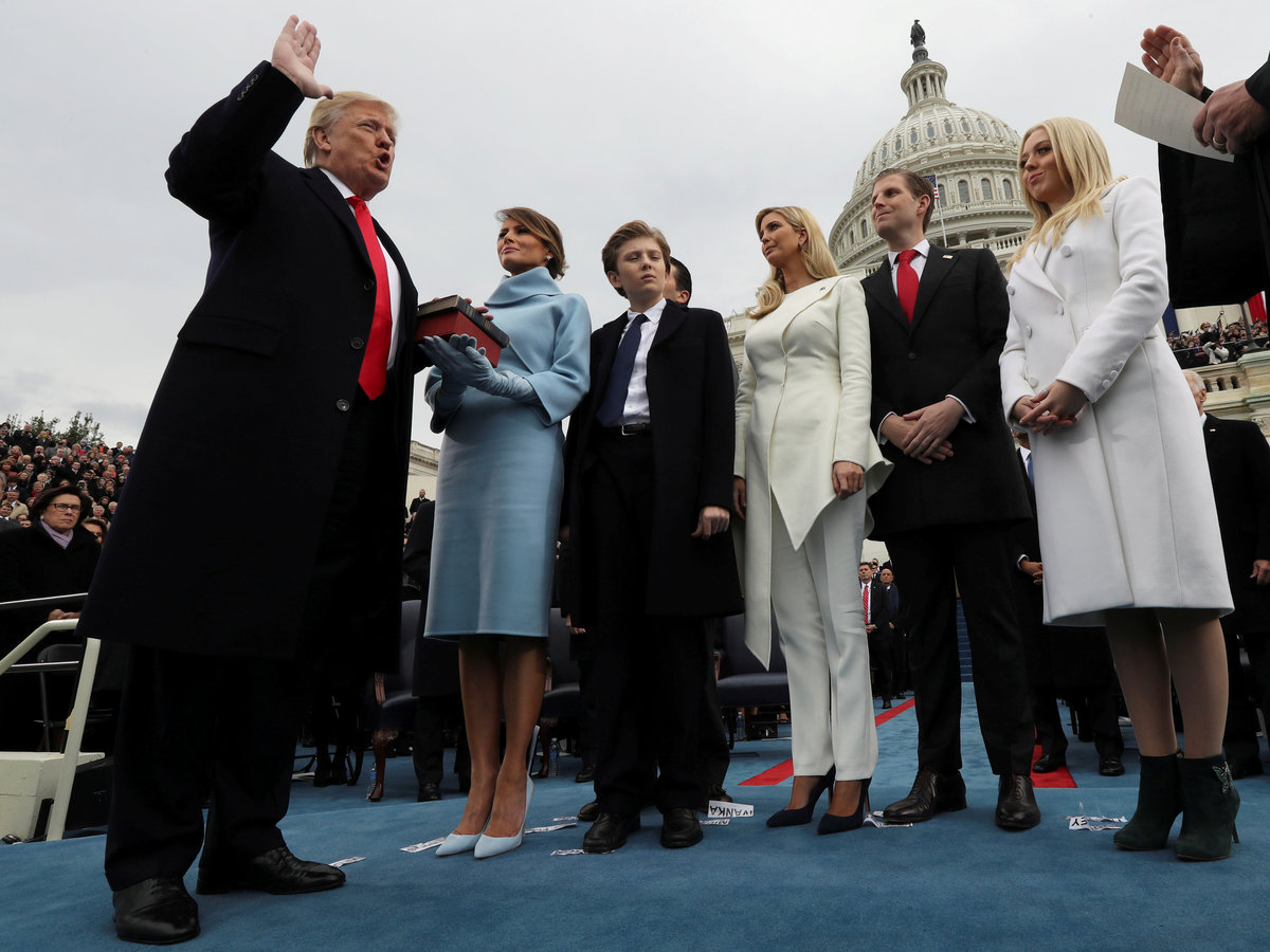 Prezident Trump s rodinou