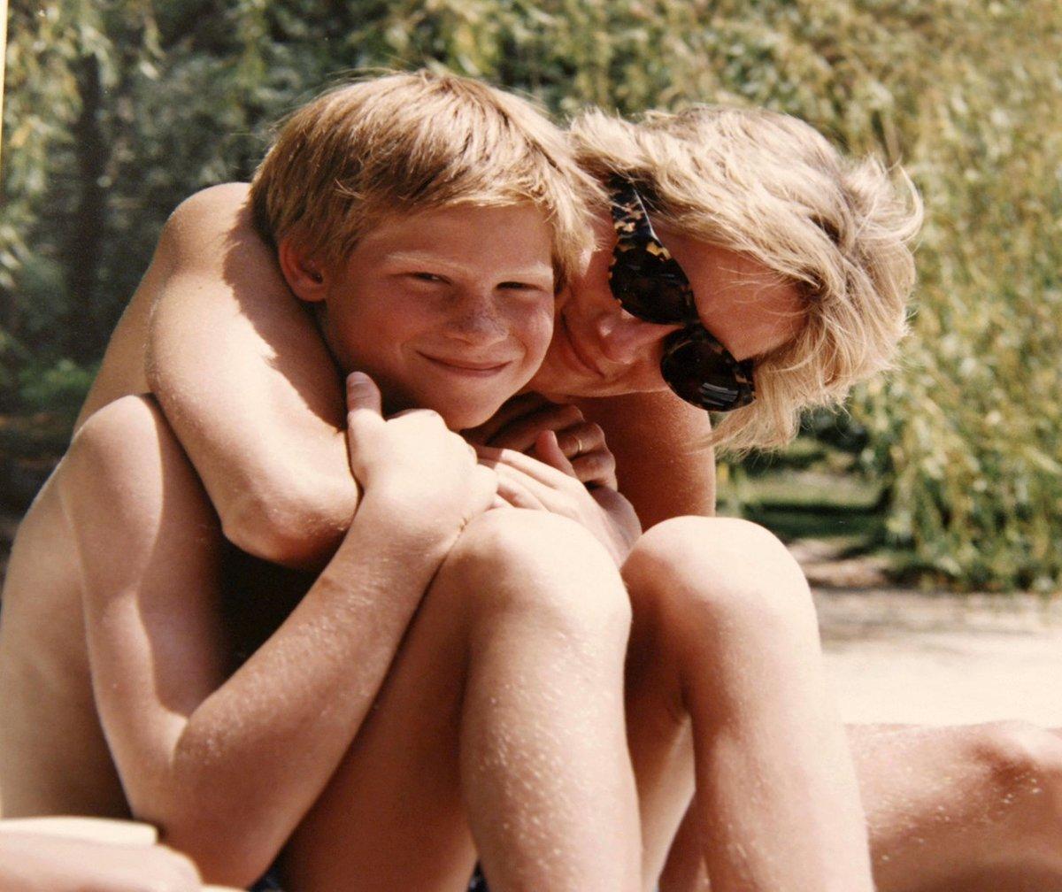 Princezna Diana se synem Harrym