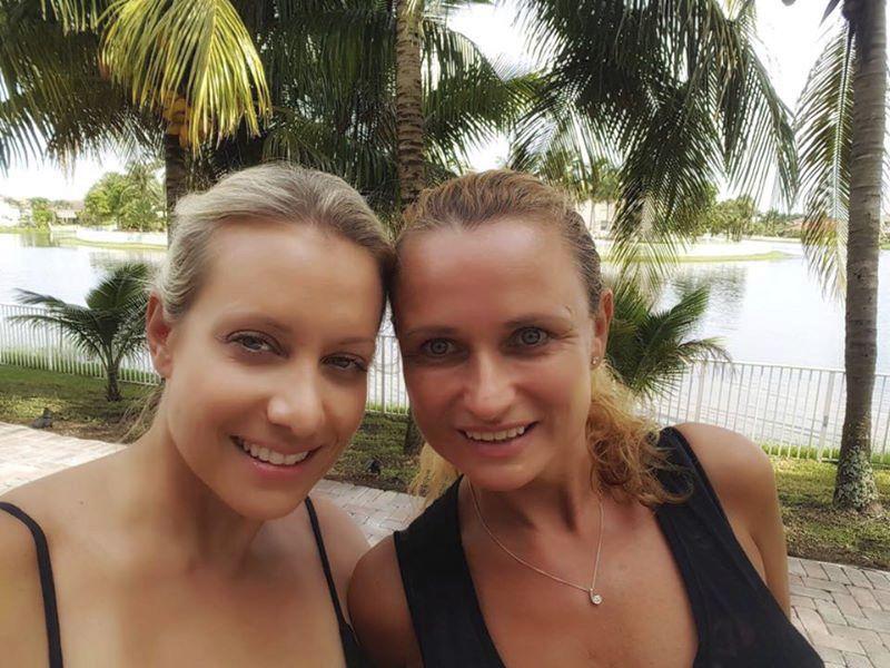 Jana s Terezou Mátlovou na Floridě