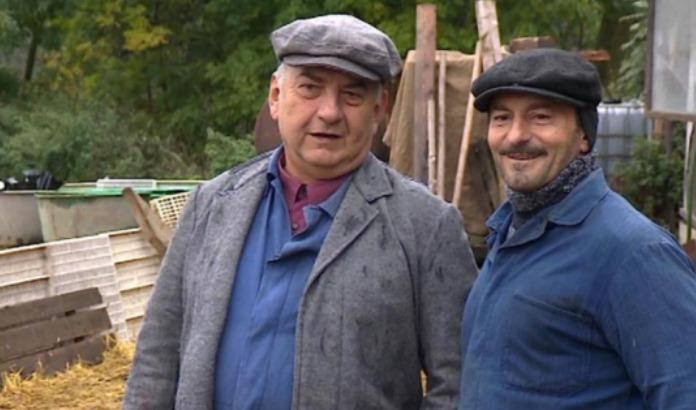 Ondřej Vetchý a Miroslav Donutil ve filmu Můj strýček Archimedes.