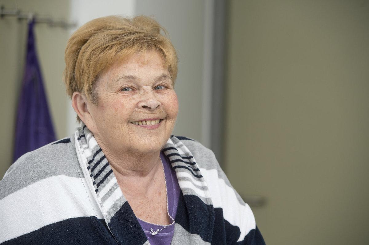 Ivanka Devátá v Rahabilitační klinice Malvazinky.