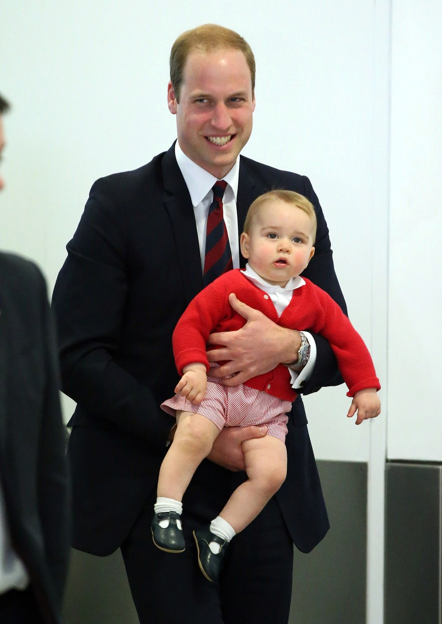Princ William s malým Georgem.