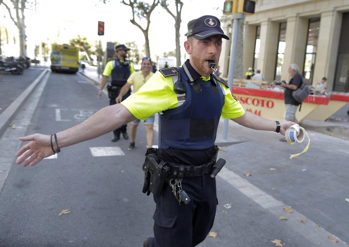 Barcelona, útok, policie
