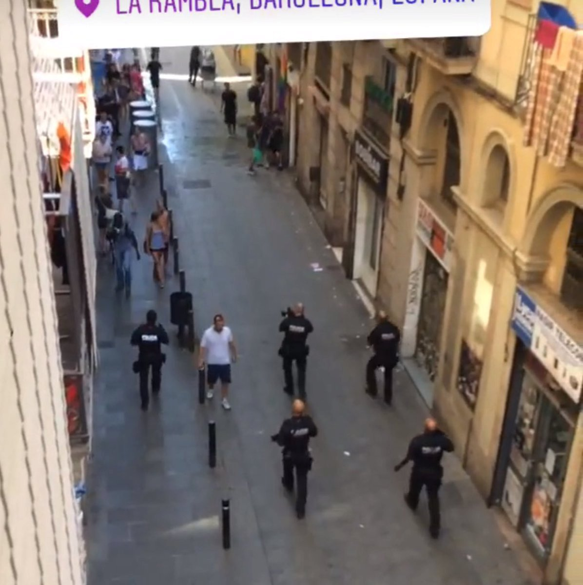 Ozbrojená policie v Barceloně