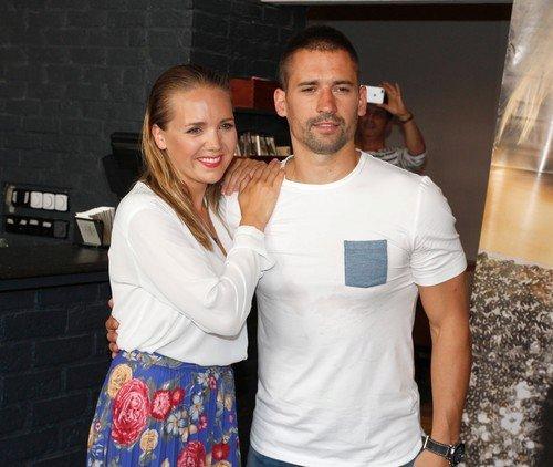 Lucie Vondráčková s manželem.