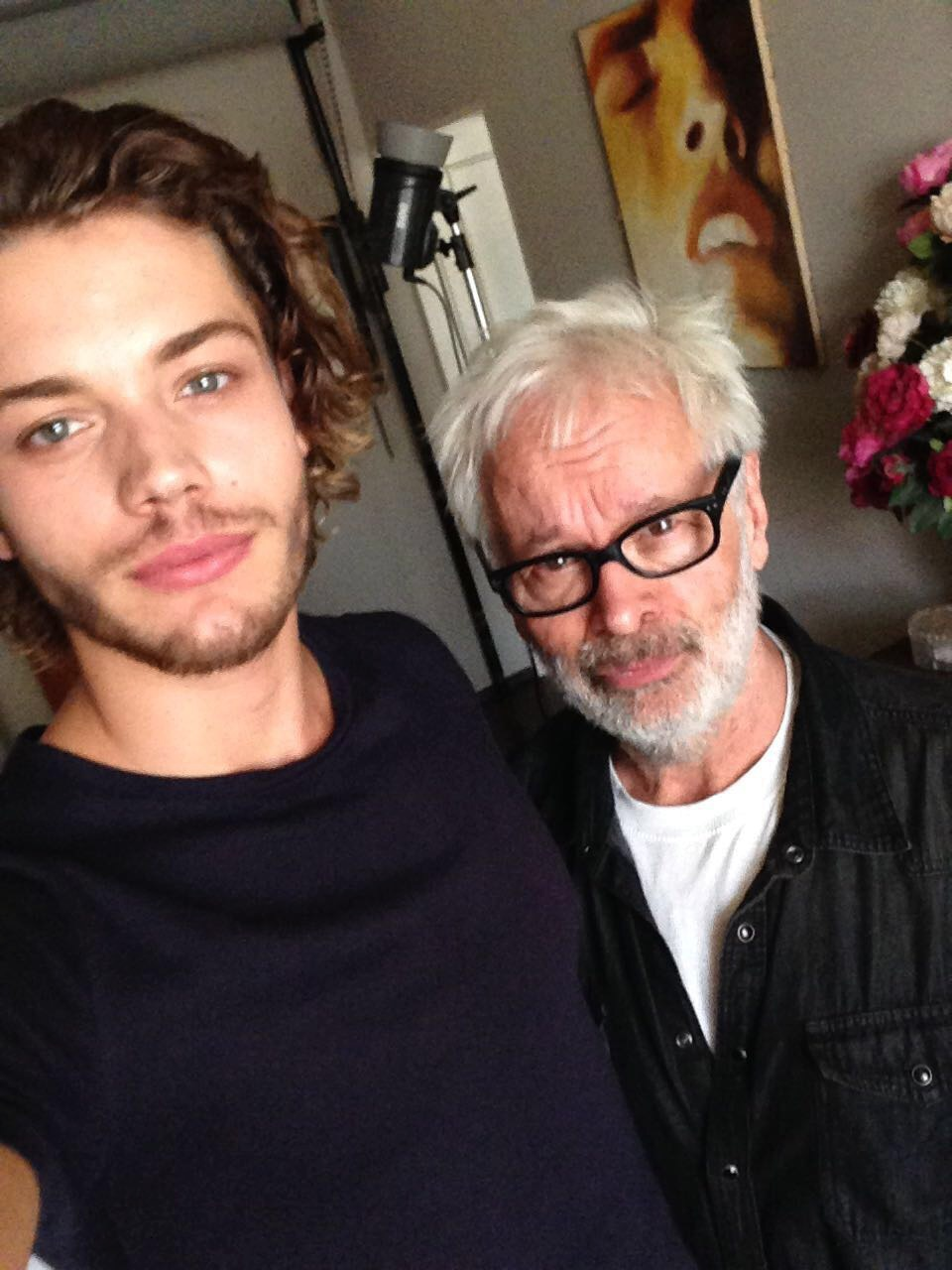 Selfie s mistrem si Roman nemohl nechat ujít.