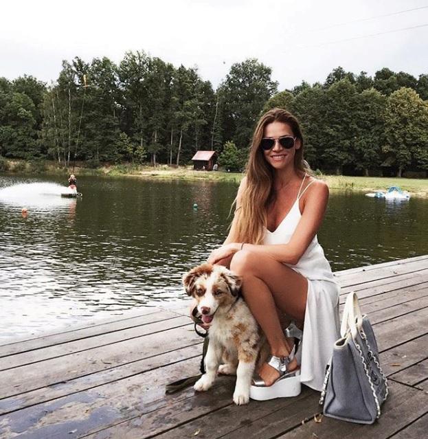 Andrea Verešová s novým členem rodiny.