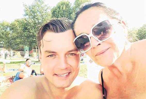 Selfie Hany Gregorové a Ondřeje Koptíka