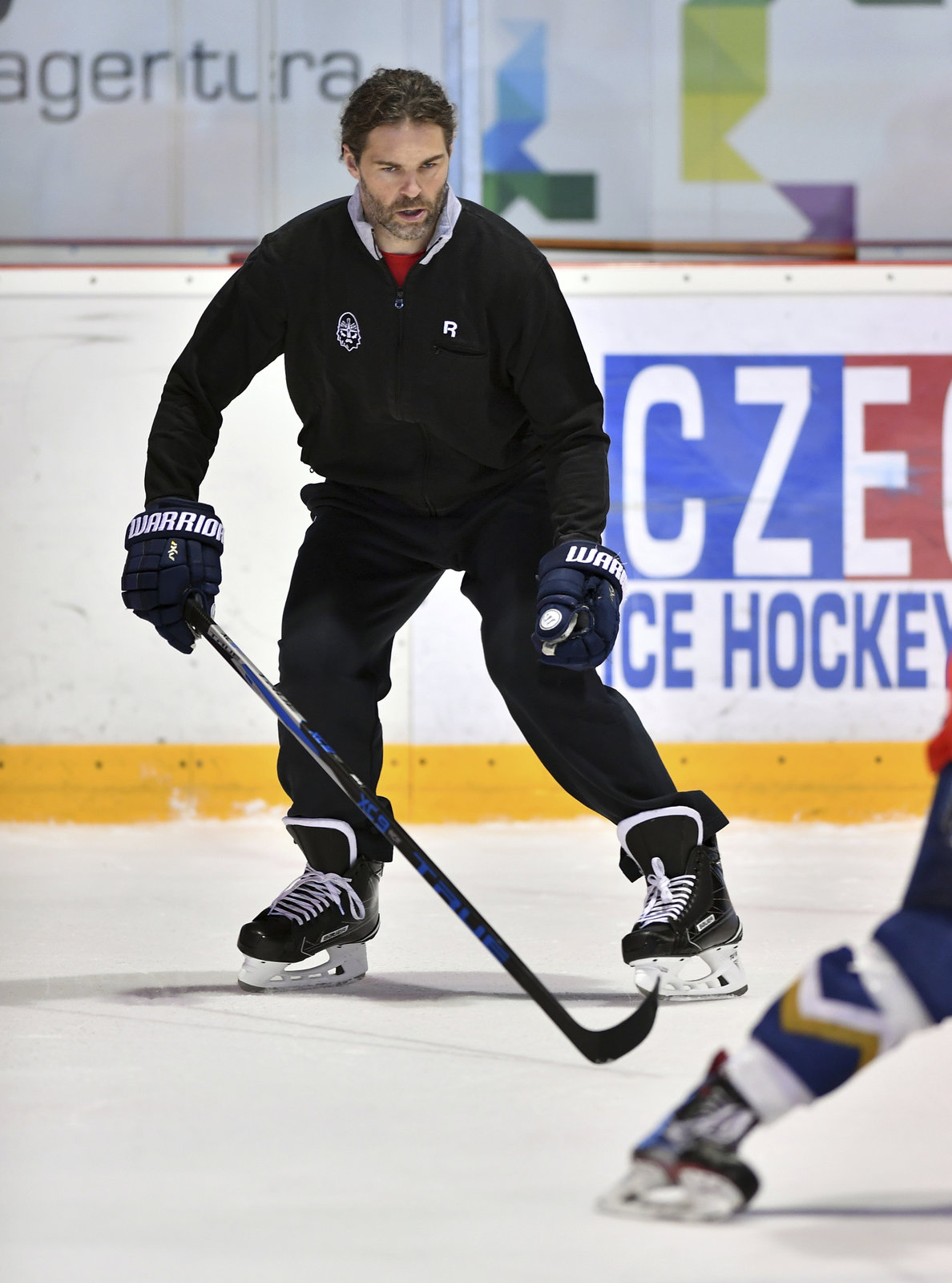 Jaromír Jágr navštívil trénink mládeže ve Slaném