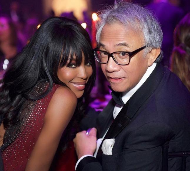 Milionář David Tang a Naomi Campbell