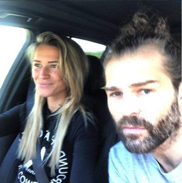 Veronika Kopřivová s Jaromírem Jágrem v polovině srpna.