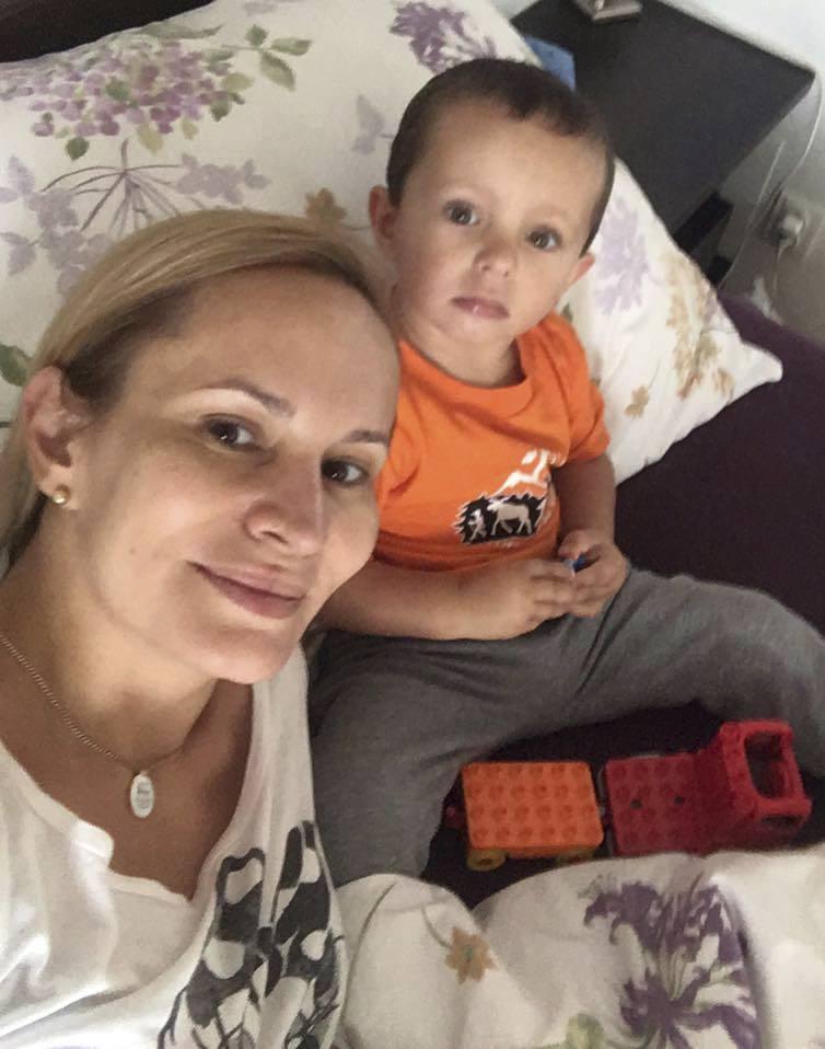 Monika se synem Tadeášem