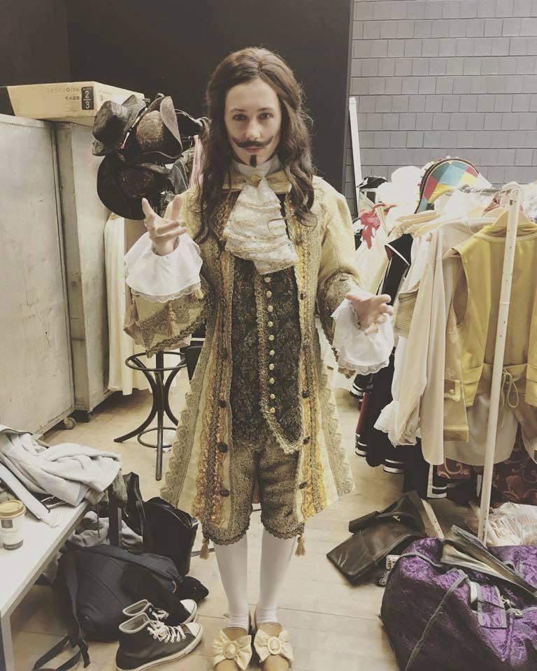 Vojtěch Drahokoupil jako král Ludvík XIV. v muzikálu Muž se železnou maskou