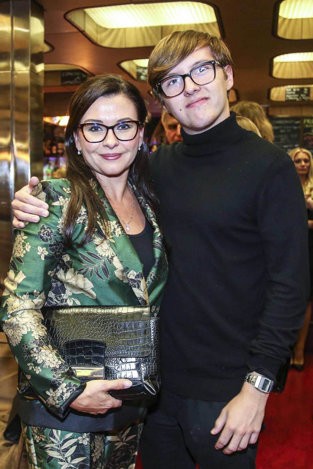 Dana Morávková se synem Petrem