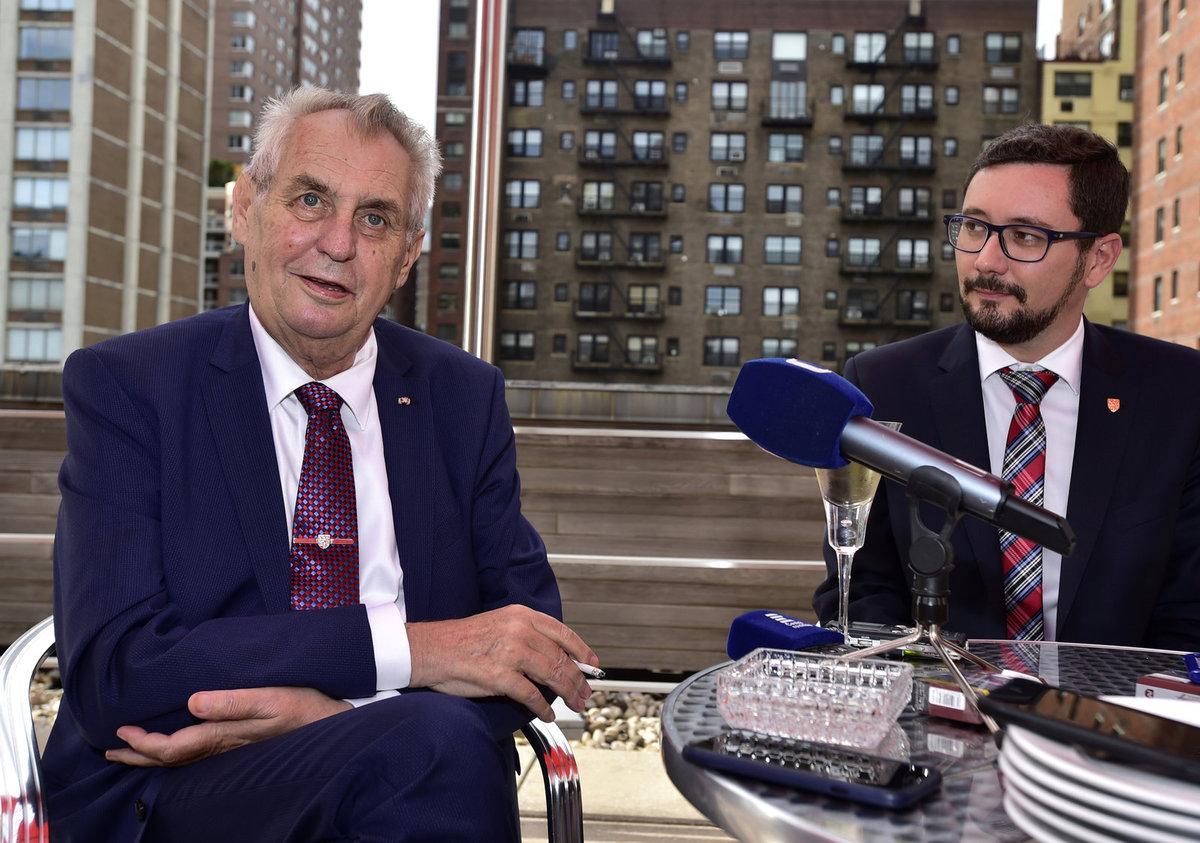 Miloš Zeman a Jiří Ovčáček