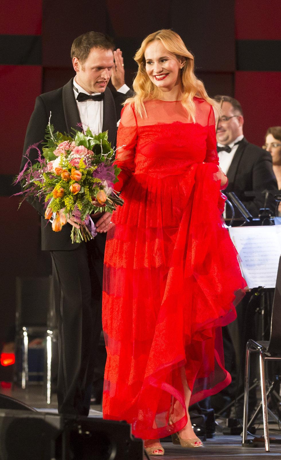 Monika Absolonová s Pavlem Vítkem