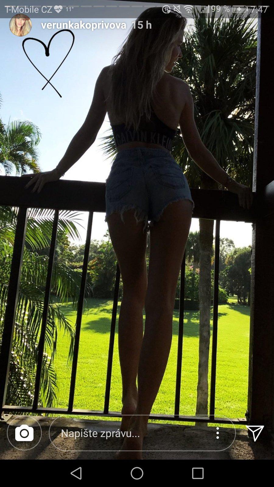 Veronika Kopřivová je sama na Floridě bez Jaromíra Jágra