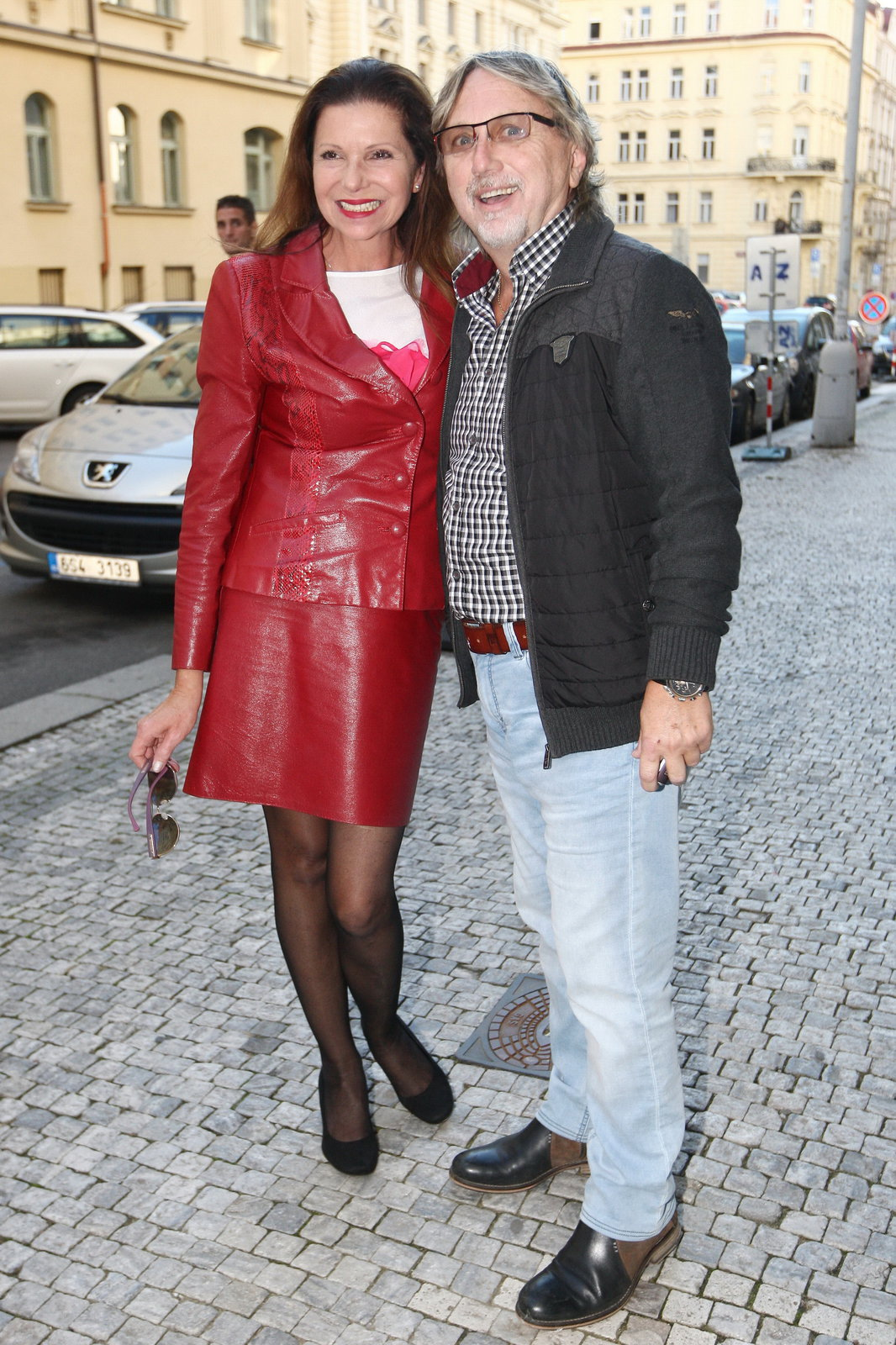 Dalibor Janda s manželkou