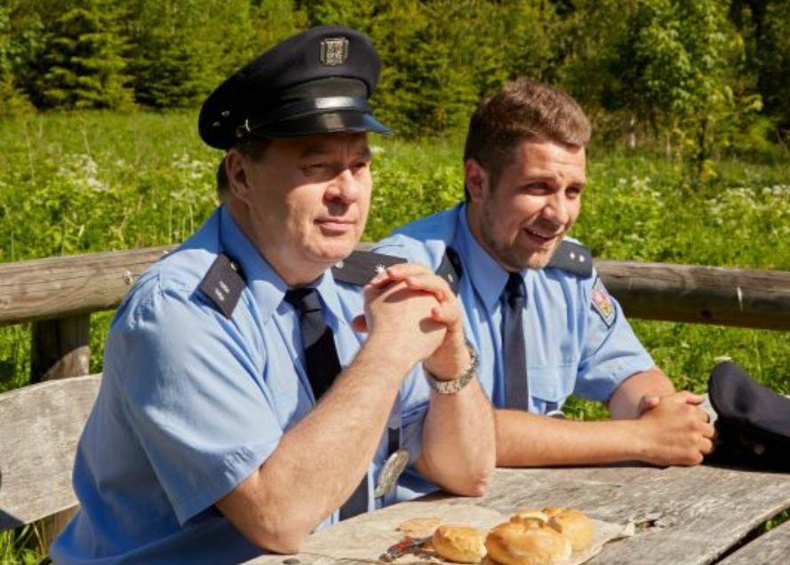 Zdeněk Palusga a Michal Holán v seriálu Policie republika