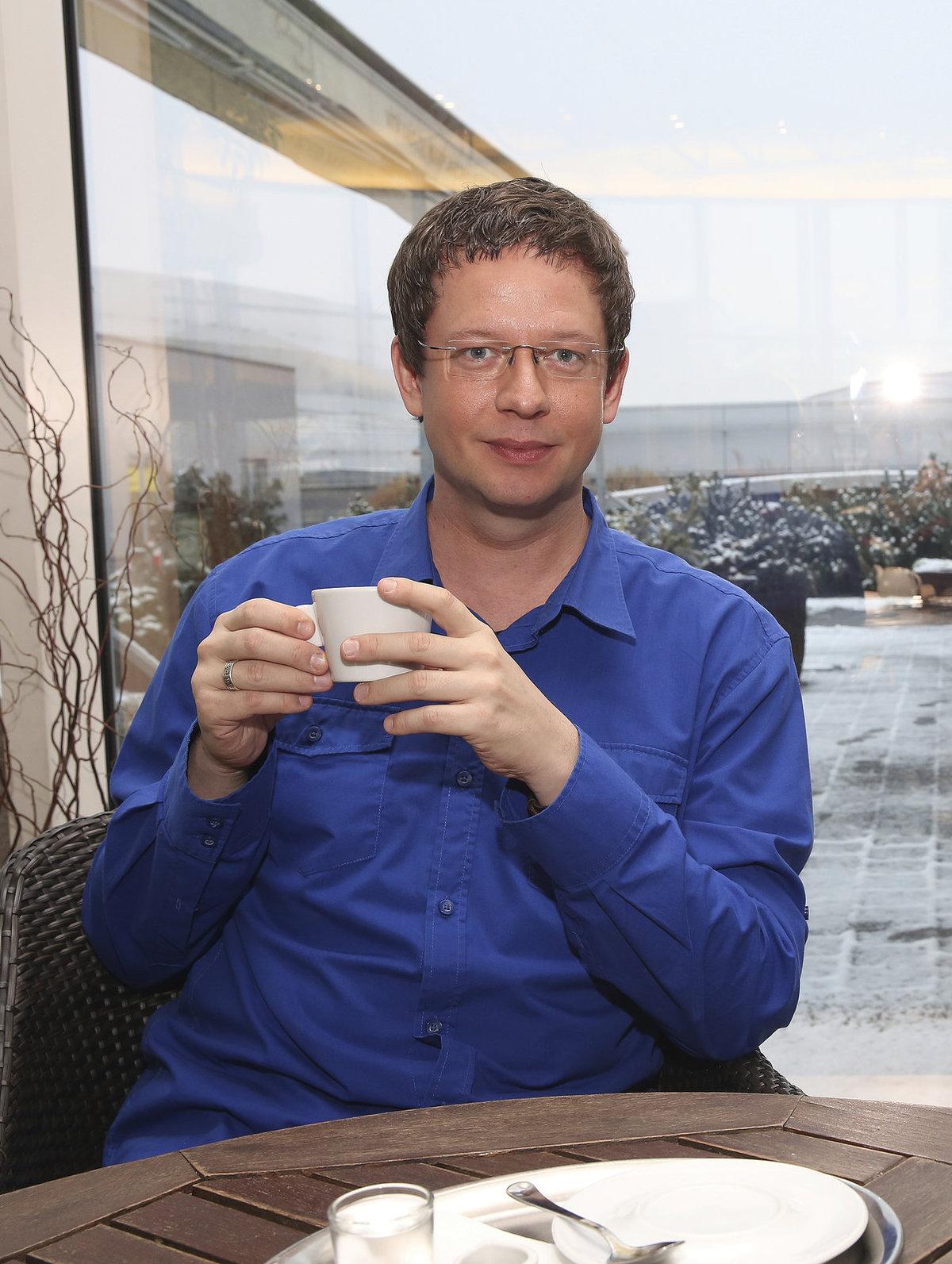 Bývalý moderátor Aleš Cibulka.