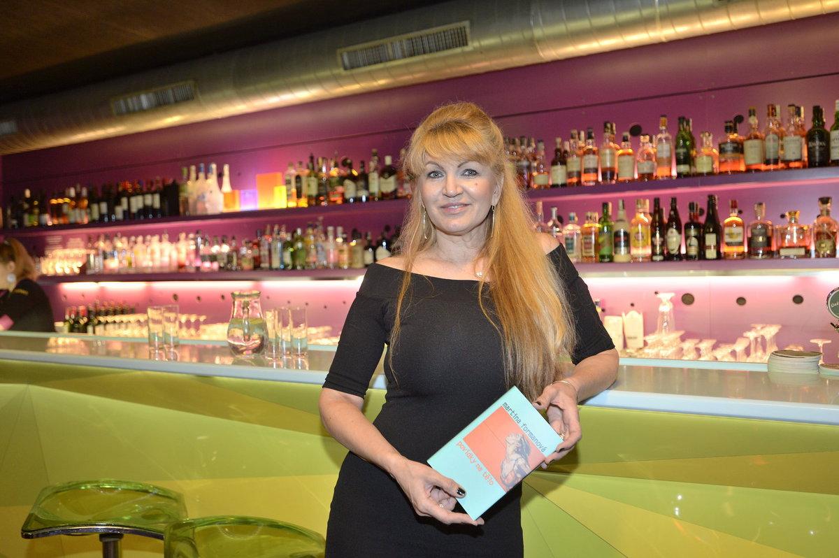 Martina Formanová na křtu své knihy Povídky na tělo
