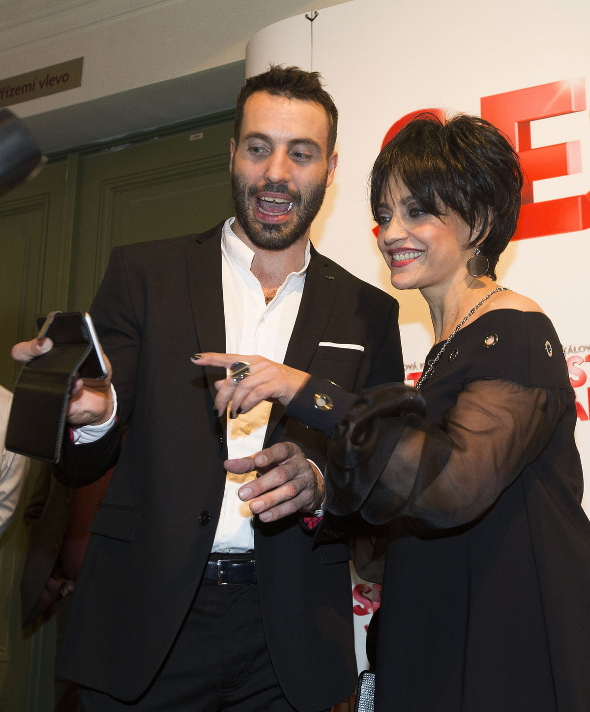 Lucie Bílá s Vaškem Noidem Bártou na premiéře muzikálu Sestra v akci