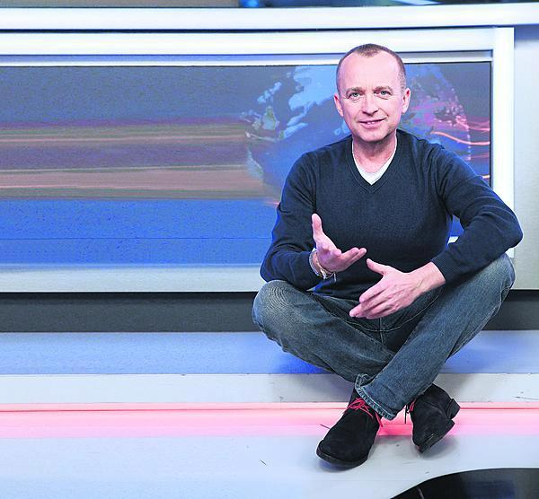 Karel Voříšek se cítí ve studiu jako ryba ve vodě.