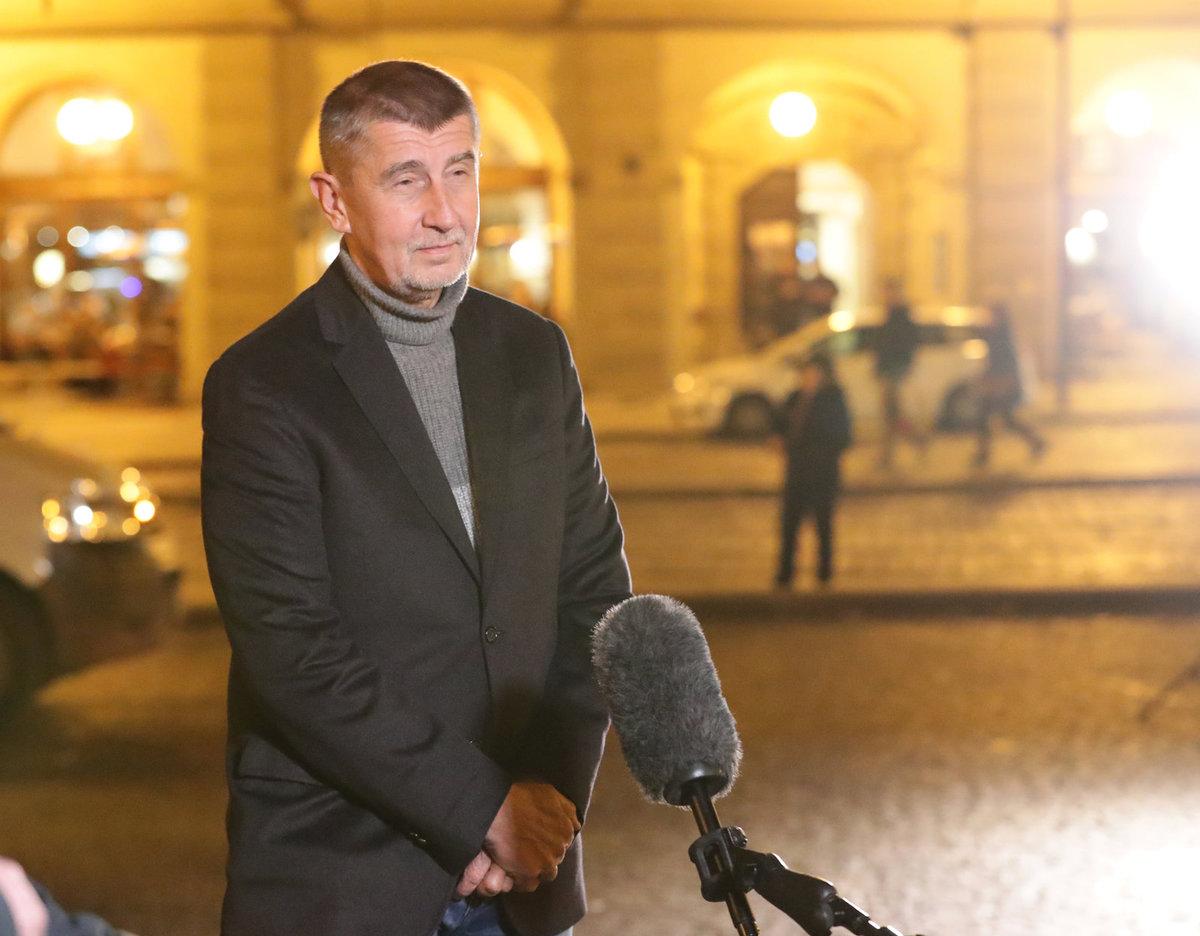 Andrej Babiš po povolební schůze ANO se zástupci ČSSD