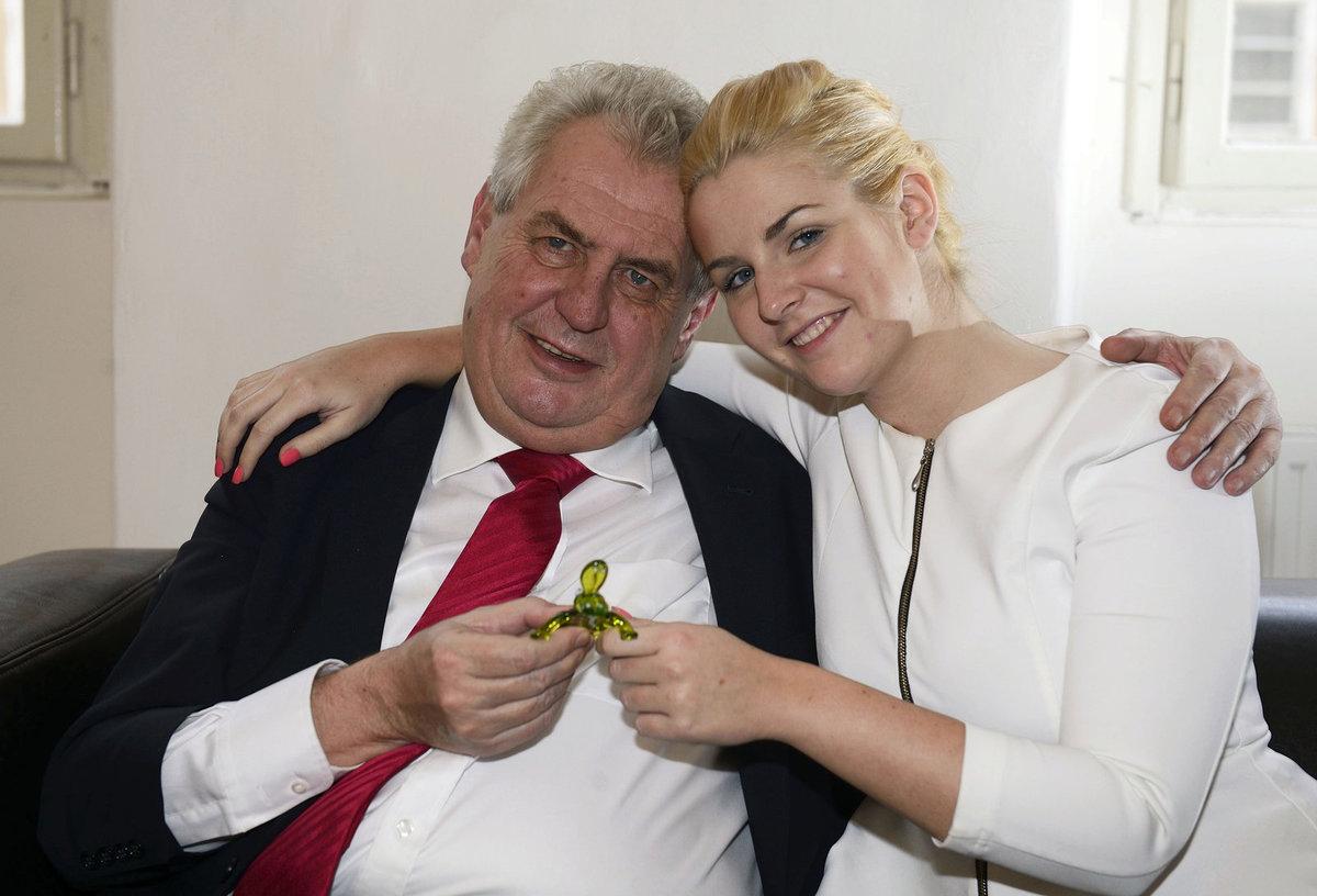 Prezident Zeman s dcerou.