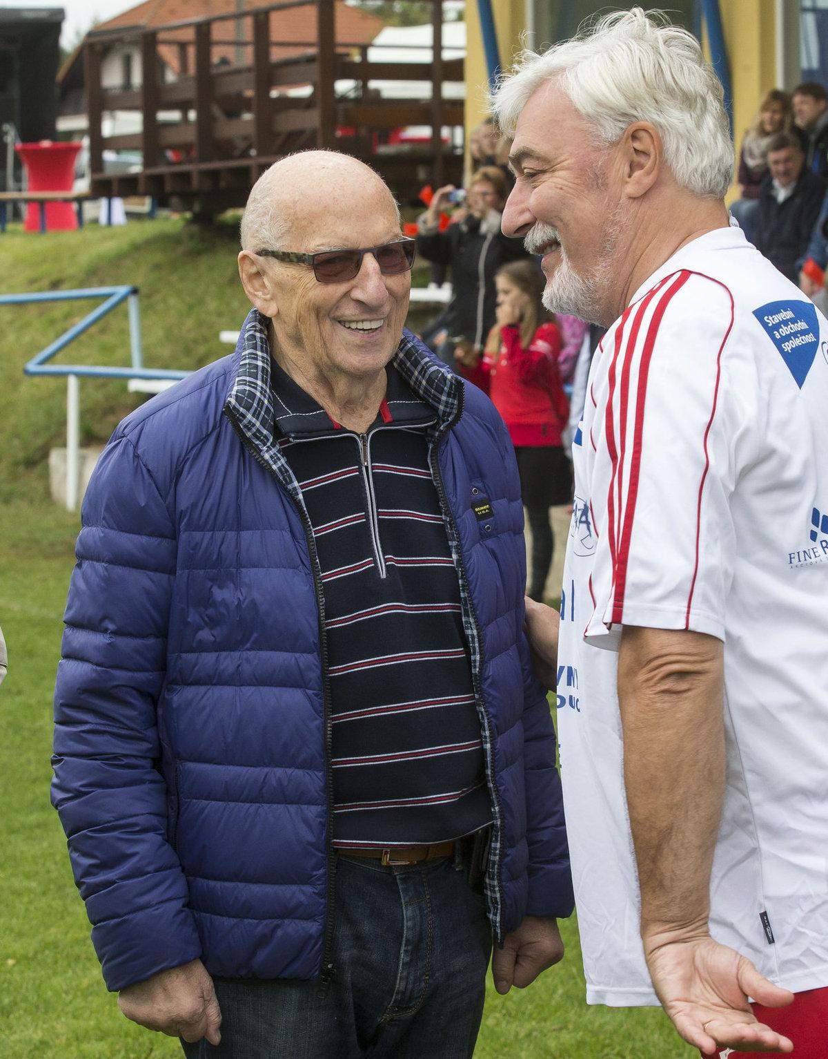 Karel Štědrý a Jan Rosák na zápase Amfory