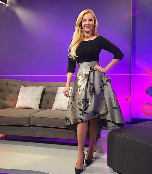 Kateřina Kristelová v pořadu na TV Barrandov
