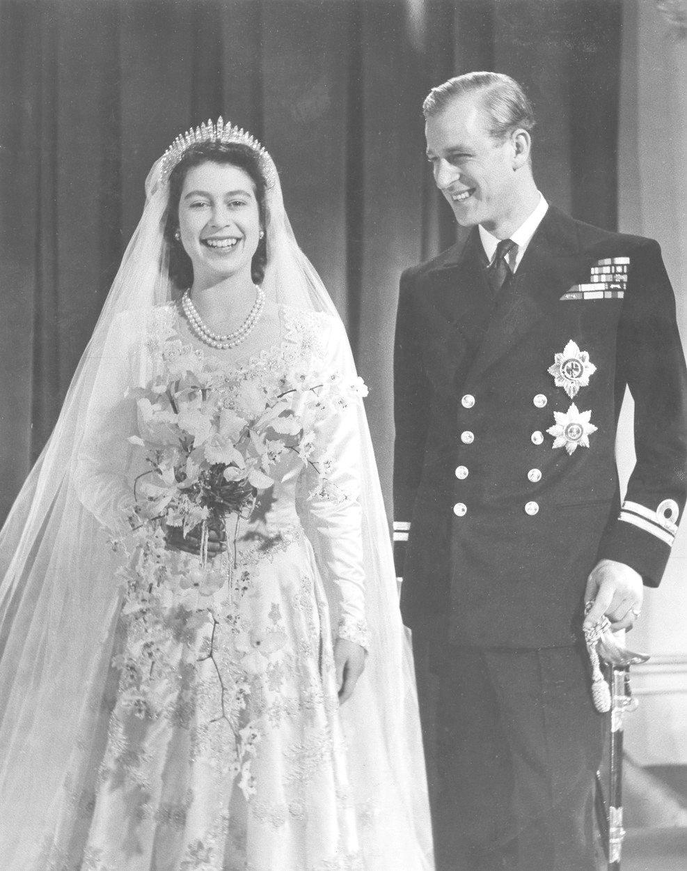 Momentka z královské svatby