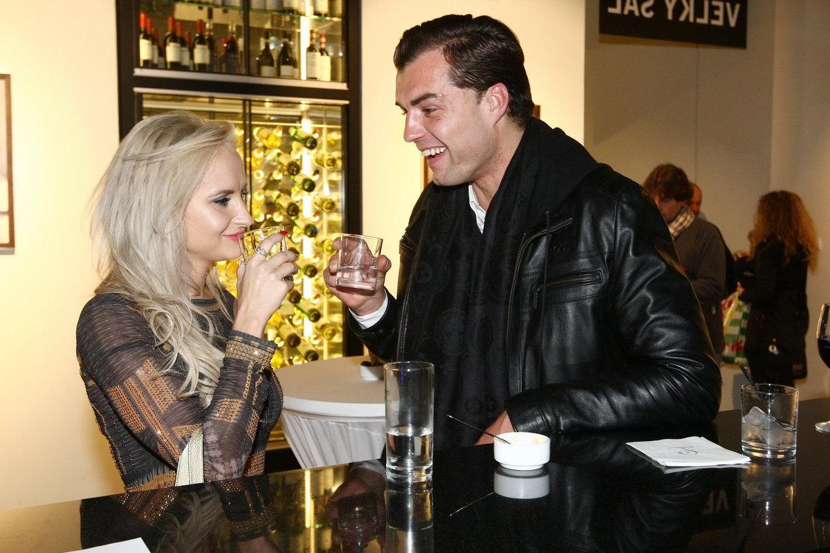 Ondřej Koptík s milenkou Silvií Řehákovou na finále soutěže Miss Junior