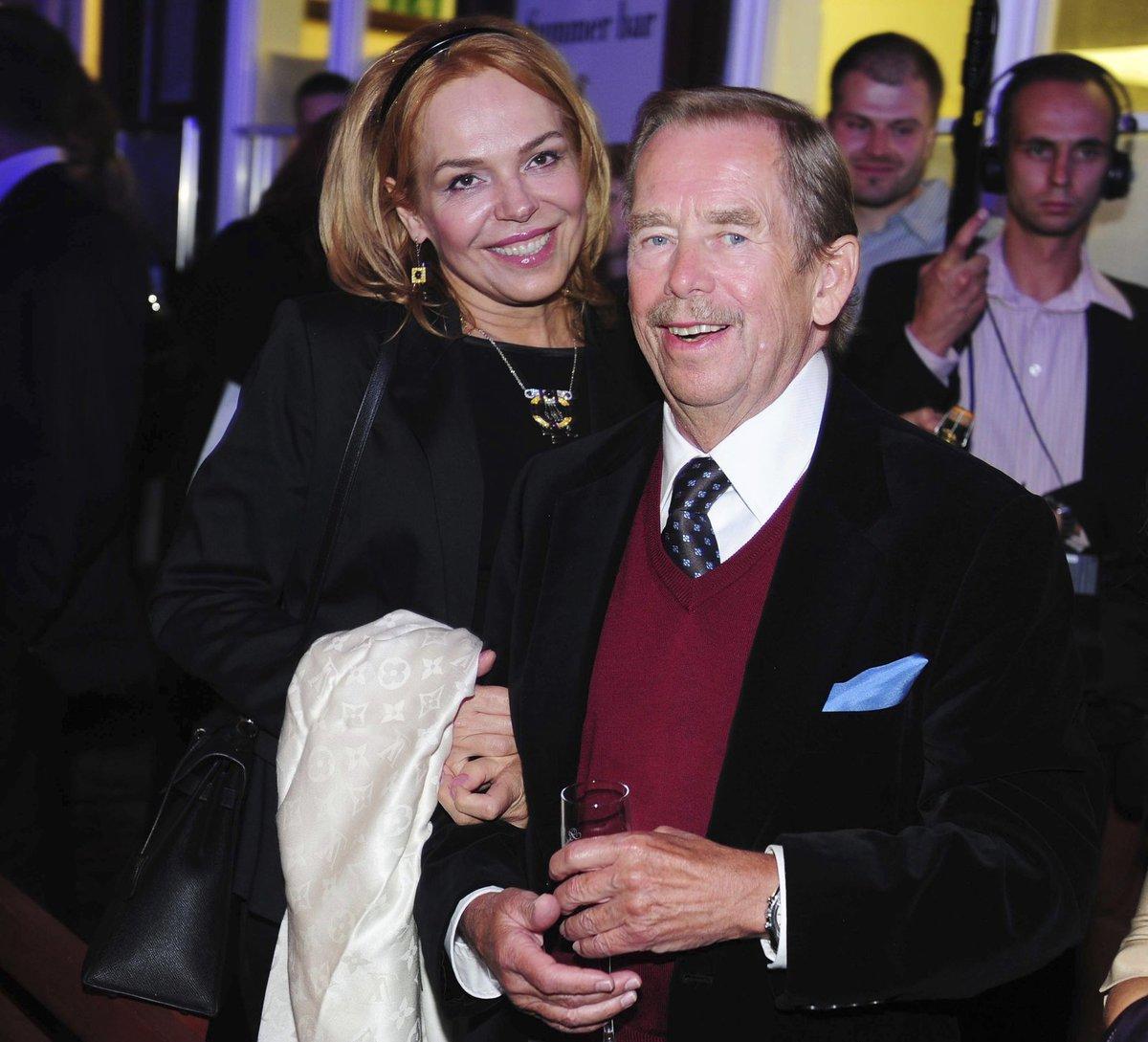 Dagmar Havlová s Václavem Havlem.