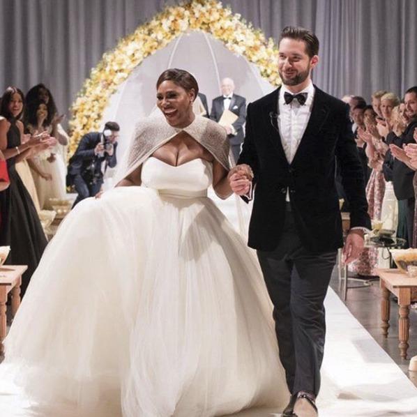 Serena Williams a její manžel Alexis Ohanian