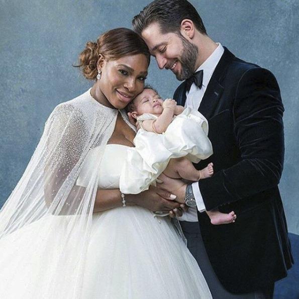 Serena Williams a Alexix Ohanian jsou rodiči dvouměsíční dcerky Alexis Olympie