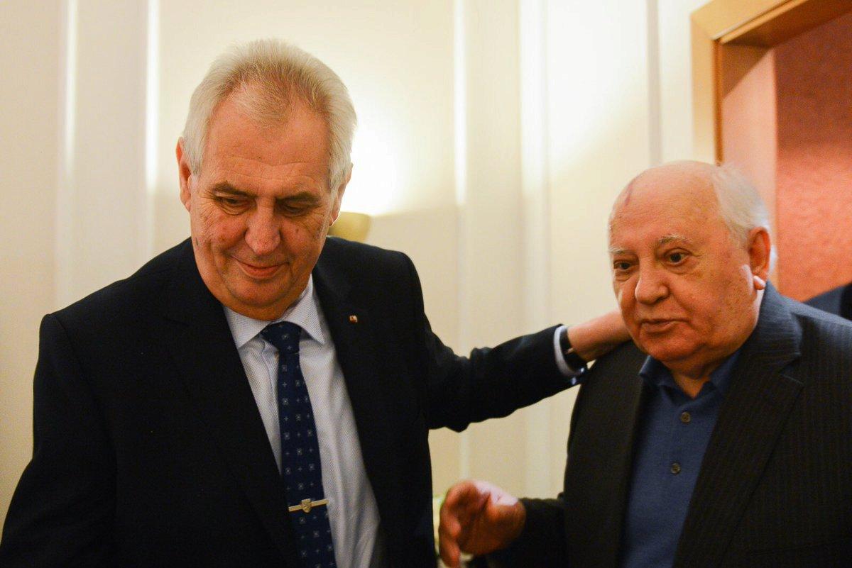 Setkání prezidenta Zemana s Michailem Gorbačovem