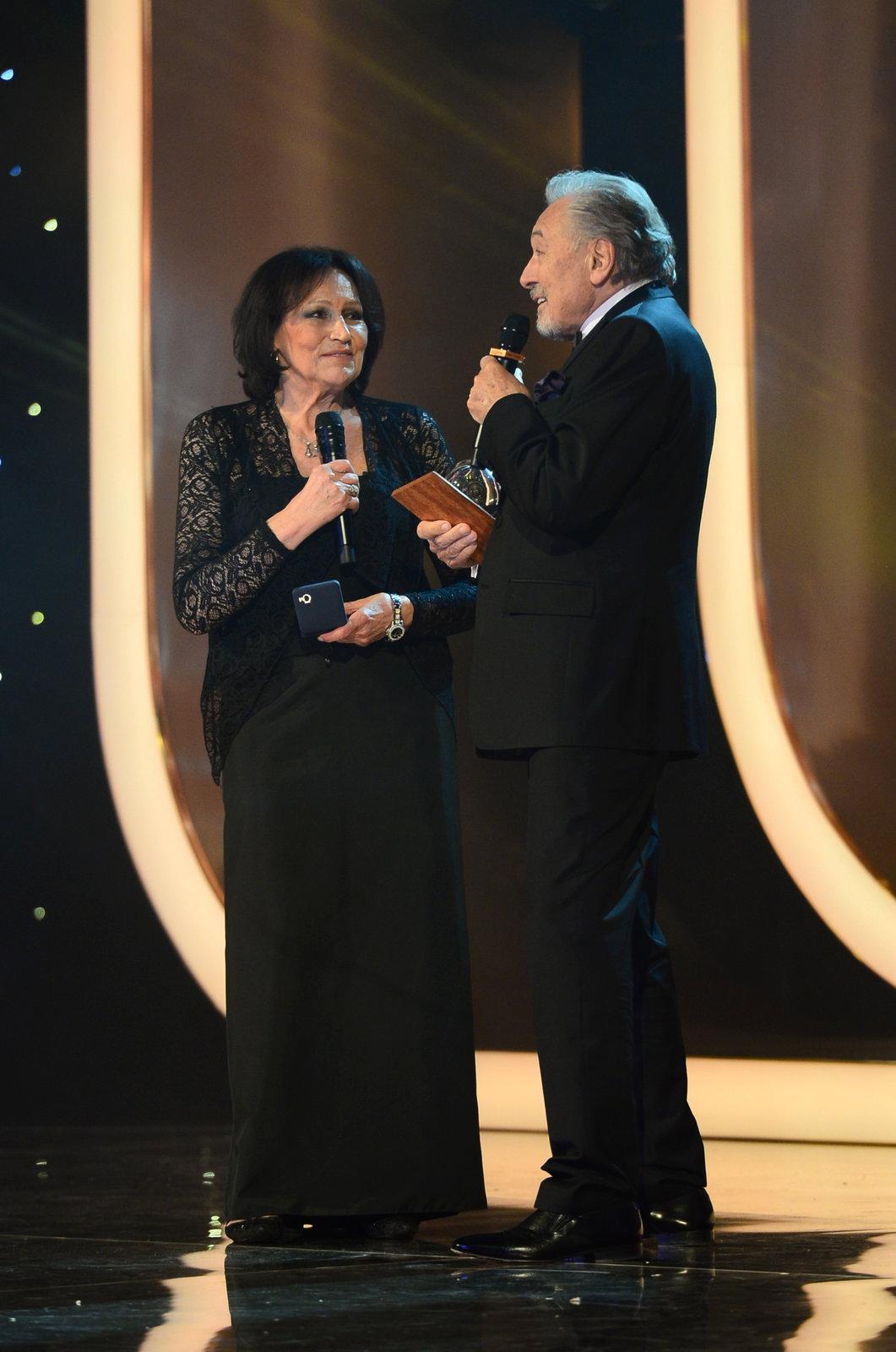 Karel Gott a Marta Kubišová na Českém slavíku 2017