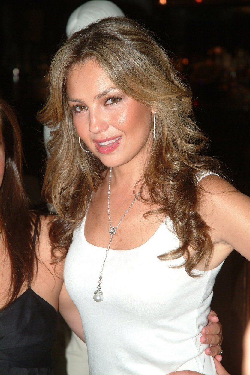 Mexická zpěvačka Thalía a hvězda telenovely Rosalinda