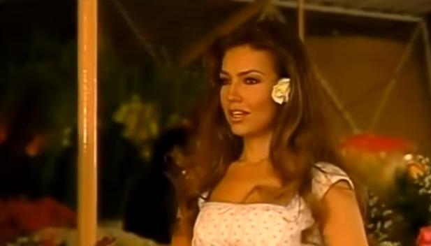 Thalía ve své nejslavnější roli jako Rosalinda