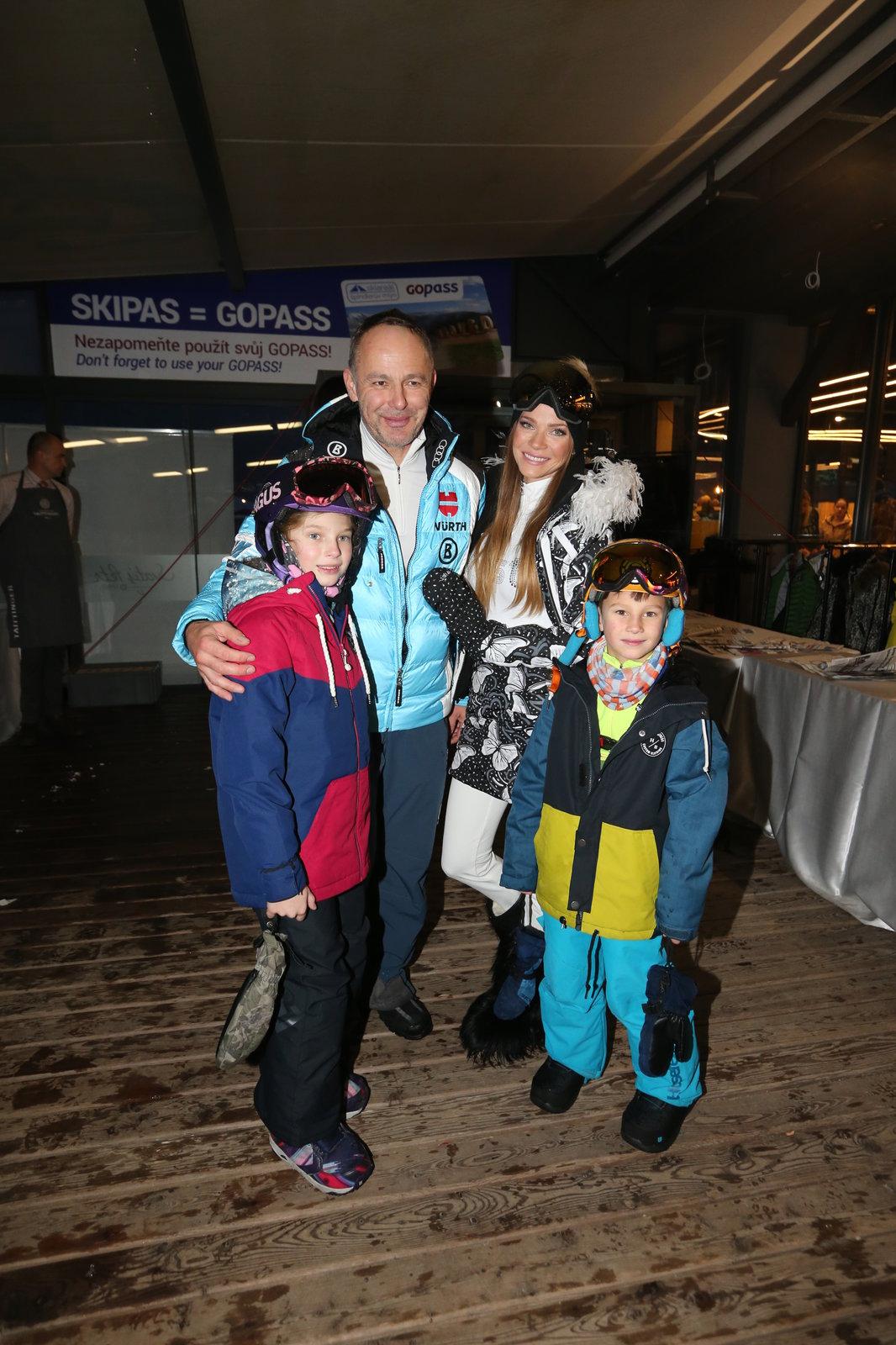 Andrea Verešová jezdí lyžovat s rodinou.