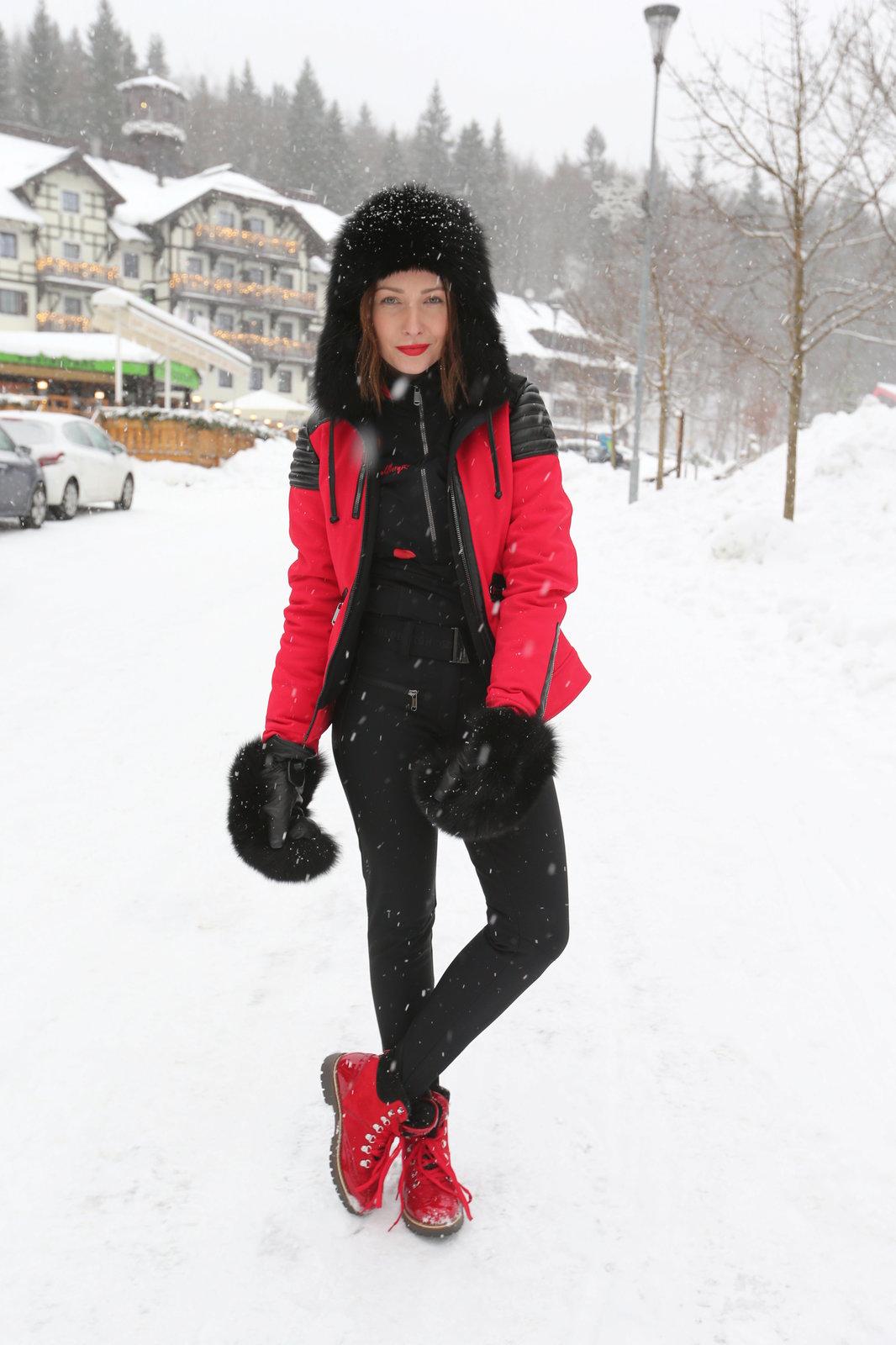 Veronika Arichteva v dalším svém zimním modelu.