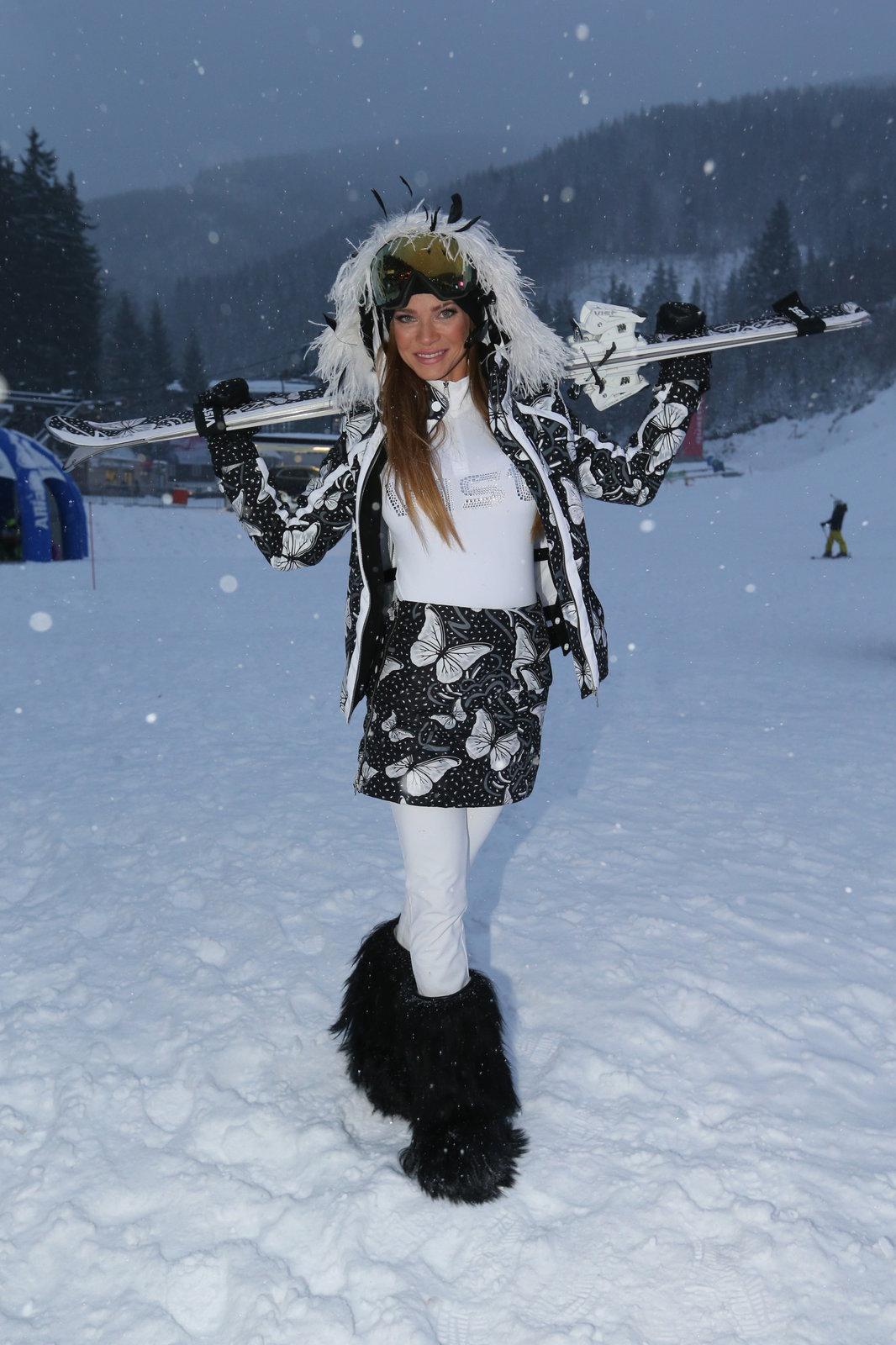 Modelka Andrea Verešová nechybí ve Špindlu žádný rok.