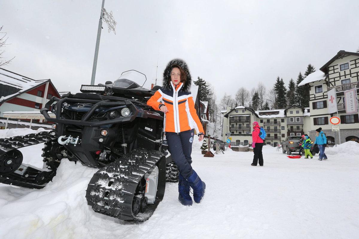 Veronika Arichteva na horách ve Špindlu.