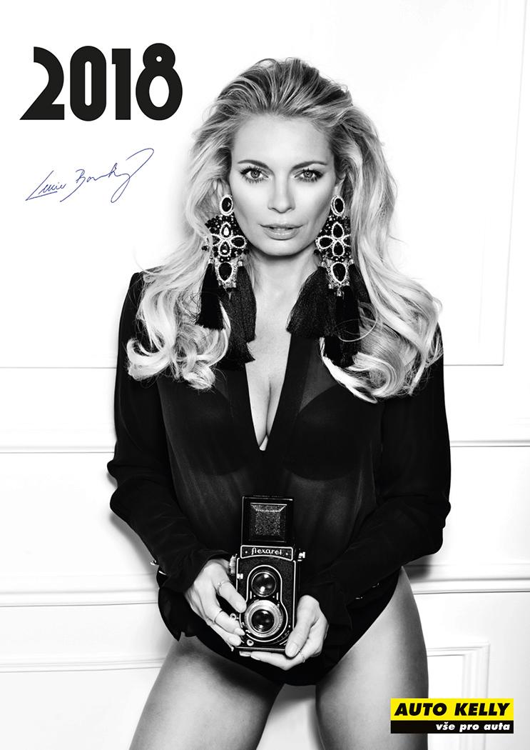 Lucie Borhyová nafotila sexy kalendář na rok 2018